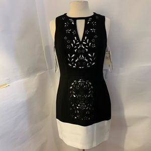 Ali ro colorblock shift dress size 4 new
